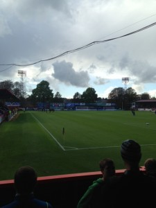 Bristol Rovers FC at Aldershot view from the ground