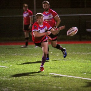 Tom Plance in action for South Wales Scorpions V Bath & Wiltshire Romans RLFC